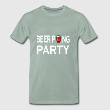 Beer Pong Party Trinkspiel - Männer Premium T-Shirt
