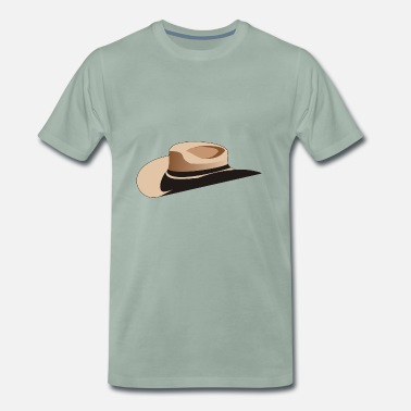 Boswachter cowboy rancher boswachter sheriff paard wester - Mannen Premium T-shirt
