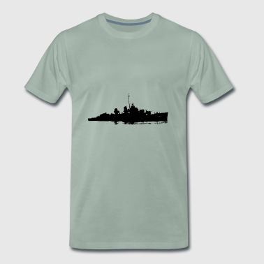 battle ship - Premium-T-shirt herr