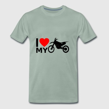 I love my motocross - Men's Premium T-Shirt