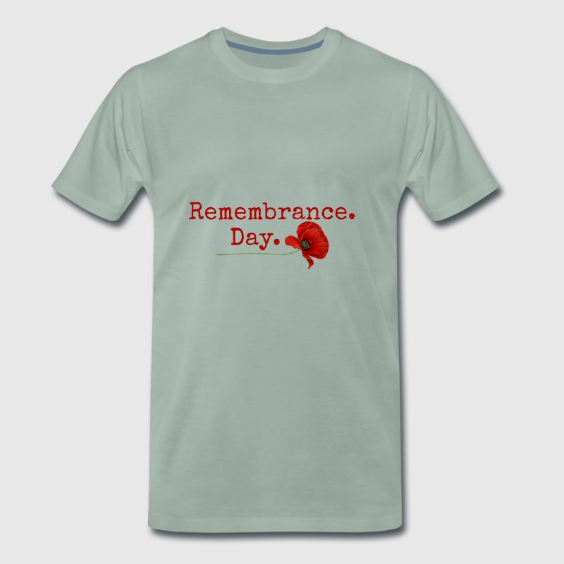 Remembrance Day. Red Poppy Gifts - Men's Premium T-Shirt