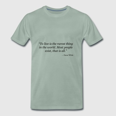 Oscar Wilde - Premium T-skjorte for menn