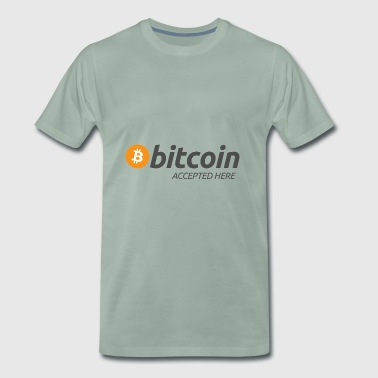 Bitcoin accepted here - T-shirt Premium Homme