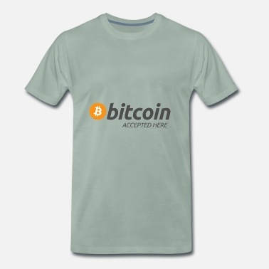 Bitcoin Bitcoin accepted here - T-shirt Premium Homme