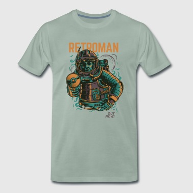 Retroman science fiction comic overhemd - Mannen Premium T-shirt