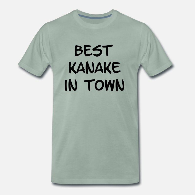 Provocation T-Shirts - Best Kanake in Town - Men's Premium T-Shirt steel green