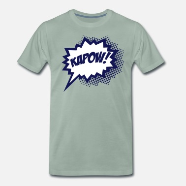 KAPOW!, Comic Style Speech Bubble Bang, Boom, Pow - Camiseta premium hombre