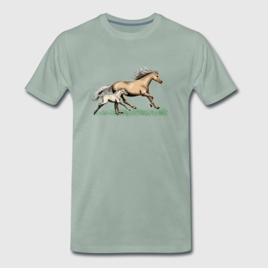 Mare with foal - Men's Premium T-Shirt