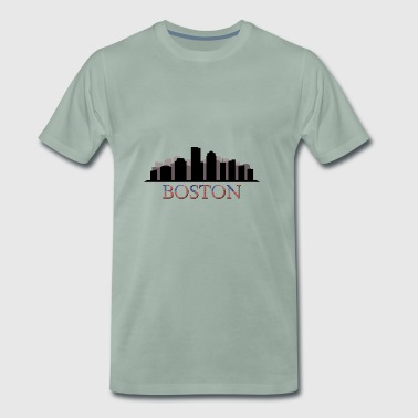 boston Skyline - Männer Premium T-Shirt