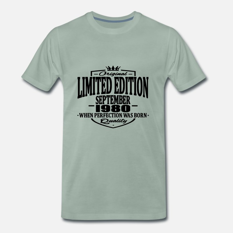 Established T-shirts - Edition limitée septembre 1980 - T-shirt premium Homme vert-de-gris