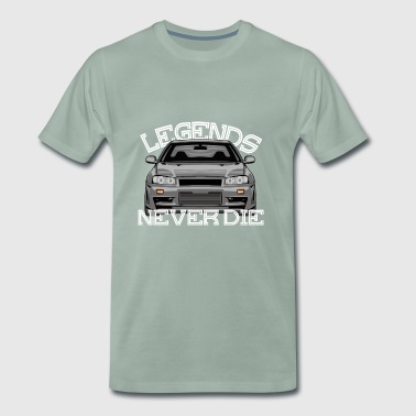 Legends Never Die Skyline R34 - Männer Premium T-Shirt