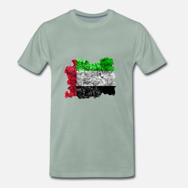 Arab Style United Arab Emirates vintage flag - Men's Premium T-Shirt