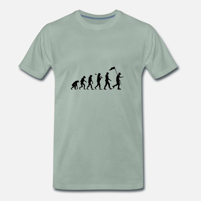 Boy Scouts T-Shirts - Boy Scout Evolution · Evolution · Camping · Nature - Men's Premium T-Shirt steel green