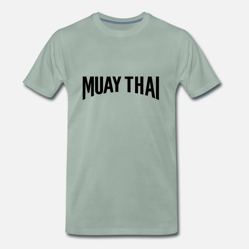 Muay Thai T-Shirts - muay thai - Men's Premium T-Shirt steel green