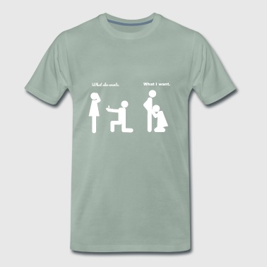 Fat Joke Wedding joke - Men's Premium T-Shirt