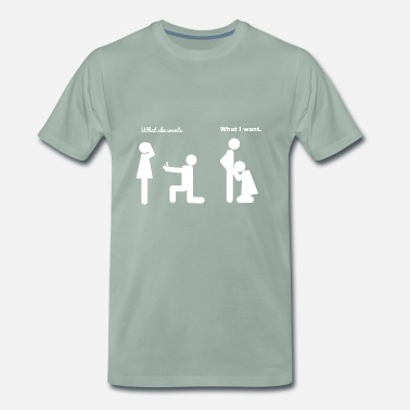 Math Jokes Wedding joke - Men's Premium T-Shirt