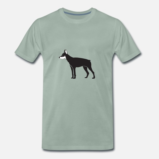 Blackjack T-Shirts - Dog - Men's Premium T-Shirt steel green