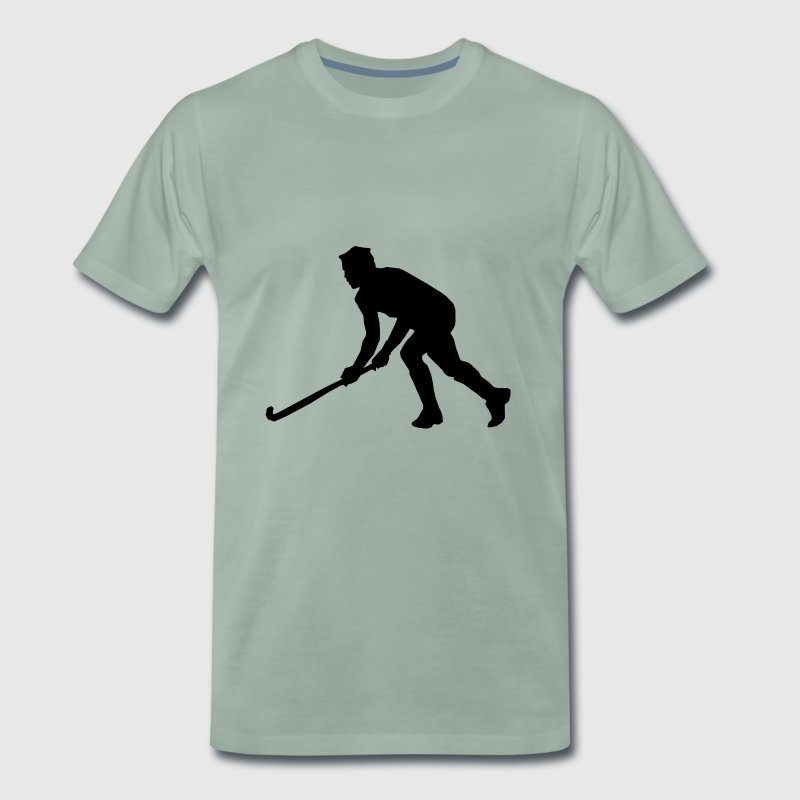 Hockey field hockey silhouette - Men's Premium T-Shirt