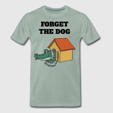 Krokodille Forget The Dog - Herre premium T-shirt