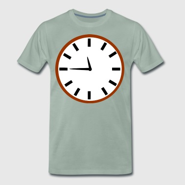 Rocket Clock - Premium T-skjorte for menn