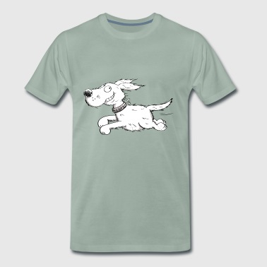 Funny Running Dog - Comic - Men's Premium T-Shirt