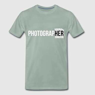 Photographing-her - Men's Premium T-Shirt