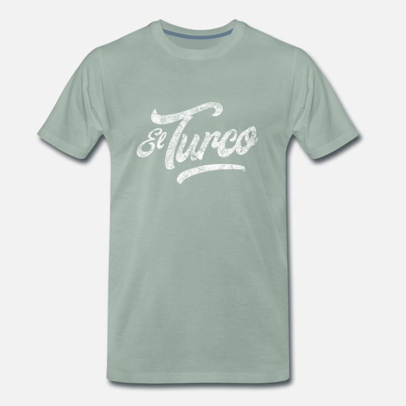 Antalya T-Shirts - el turco white - Men's Premium T-Shirt steel green