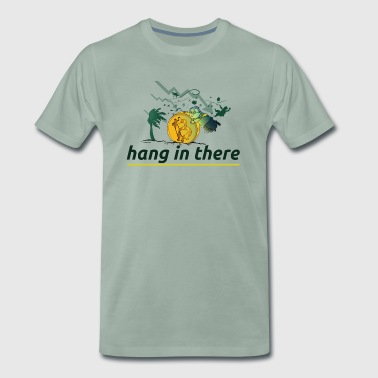 hang in there, crypto currencies, for HODLORs - Männer Premium T-Shirt