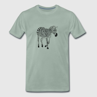 Zebra Zentangle - Männer Premium T-Shirt