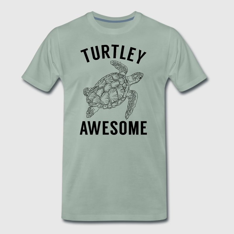 Turtley Awesome. Colorful turtle Gifts for Friends - Men's Premium T-Shirt