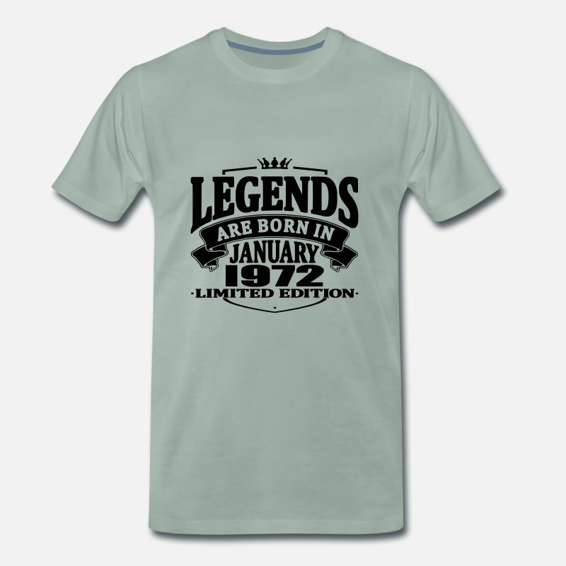 Established T-Shirts - Legends are born in january 1972 - Men's Premium T-Shirt steel green