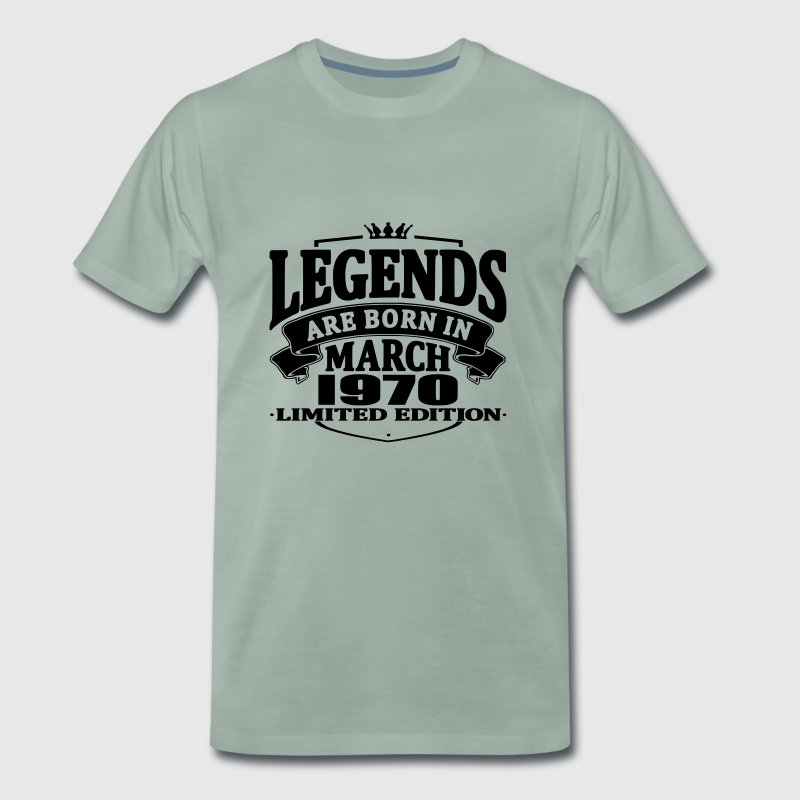 Legends are born in march 1970 - Men's Premium T-Shirt