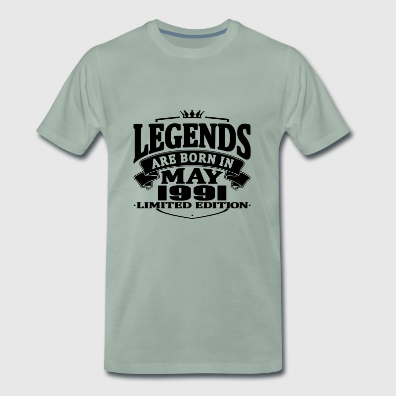 Legends are born in may 1991 - Men's Premium T-Shirt