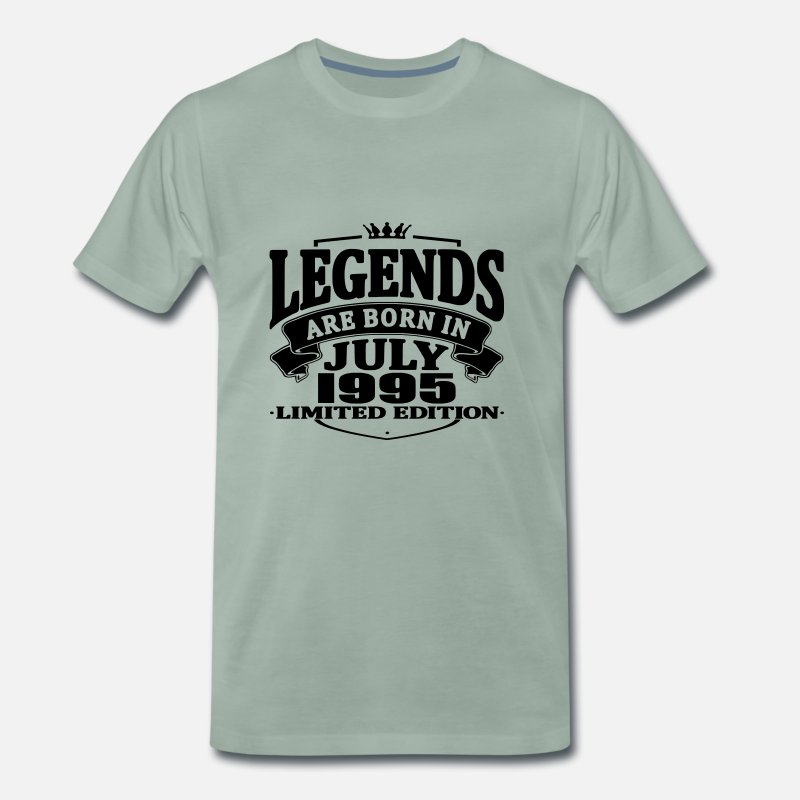 Established T-Shirts - Legends are born in july 1995 - Men's Premium T-Shirt steel green