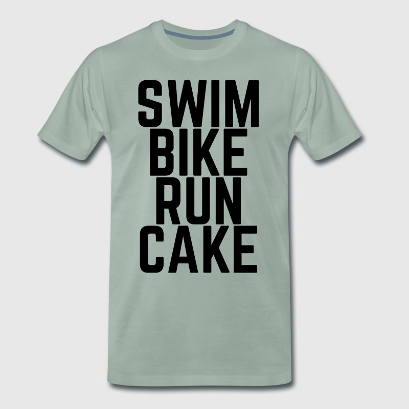 Swim Bike Run Cake! - Men's Premium T-Shirt