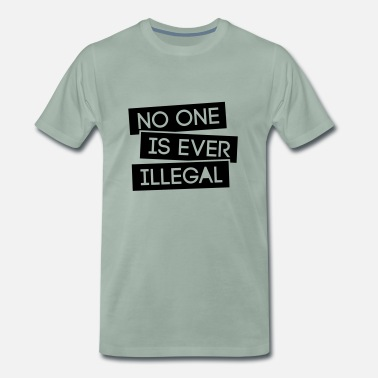 Diskussion No one is illegal - Männer Premium T-Shirt