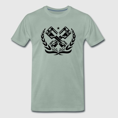 RACE PISTONS ENGINE - Men's Premium T-Shirt