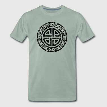 Vintage shield knot Thor sign shapes icons - Men's Premium T-Shirt