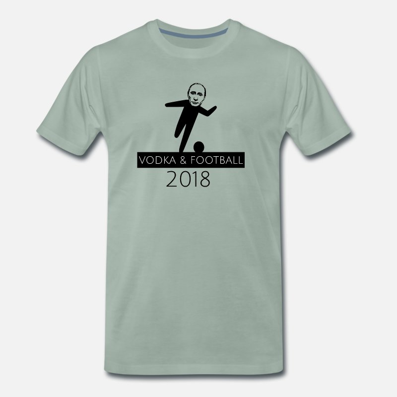 Soccer T-Shirts - Putin football world champion 2018 Russia - Men's Premium T-Shirt steel green