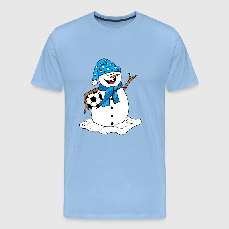 Weihnachtsschneemann, der Fußball hält von LSRclothing | Spreadshirt