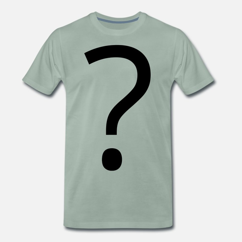 Question Mark T-Shirts - Question mark icon gift idea - Men's Premium T-Shirt steel green