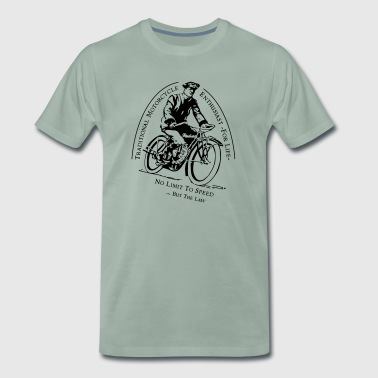 Traditionel Motorcykel Enthusiast -For Life - Herre premium T-shirt