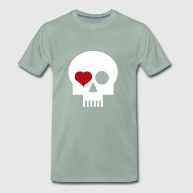 Skull with heart - Men's Premium T-Shirt