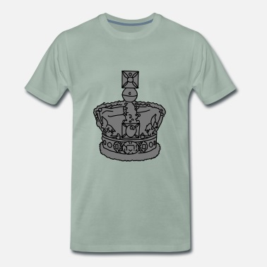 Elisabeth Ii Crown 2 - Men's Premium T-Shirt