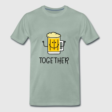 Better Together Partnerlook (Part2) Beer bier - Mannen Premium T-shirt