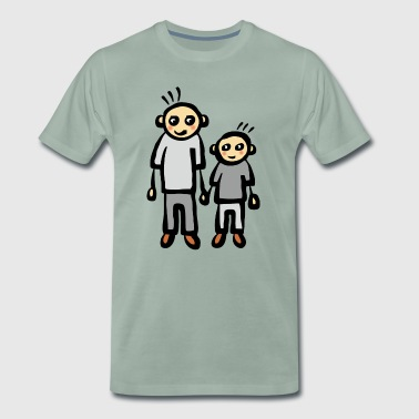 Père parents papa fils - T-shirt Premium Homme