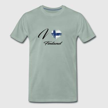 I Love Home Flag Country Roots Finland - Men's Premium T-Shirt