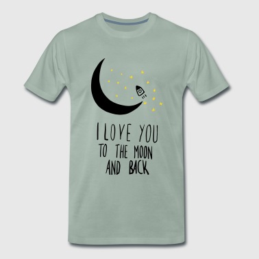 Back Paare Love Moon and Back - Männer Premium T-Shirt