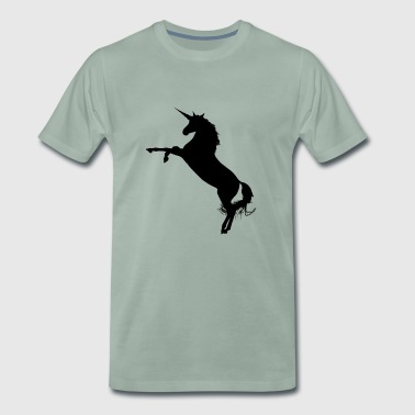 Jumping Unicorn - Mannen Premium T-shirt