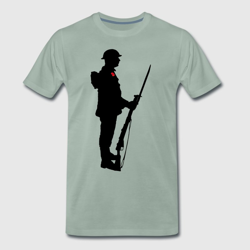 Remembrance Day Soldier WW1 - Men's Premium T-Shirt